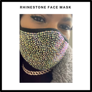 Black Rhinestone/Bling Reusable Face Mask