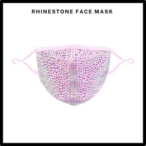 Pink Rhinestone/Bling Reusable Face Mask