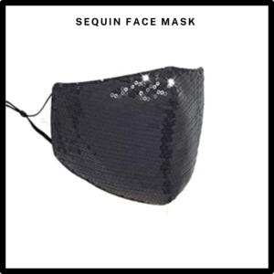 Light Blue Sequin Reusable Face Mask