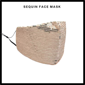 Champagne Sequin Reusable Face Mask