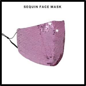 Pink Sequin Reusable Face Mask