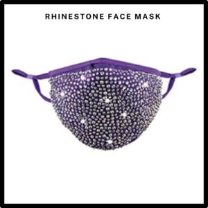 Purple Rhinestone/Bling Reusable Face Mask