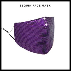 Purple Sequin Reusable Face Mask