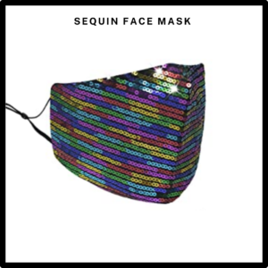 Rainbow Sequin Reusable Face Mask