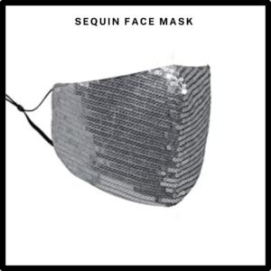 Silver Sequin Reusable Face Mask