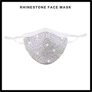 White Rhinestone/Bling Reusable Face Mask